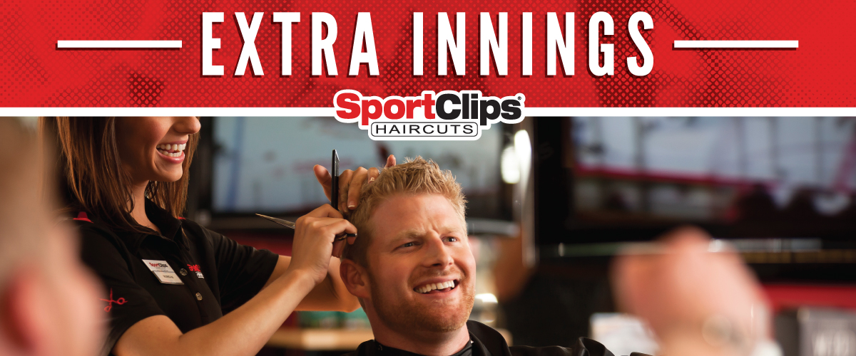 The Sport Clips Haircuts of Park Towne Village Extra Innings Offerings