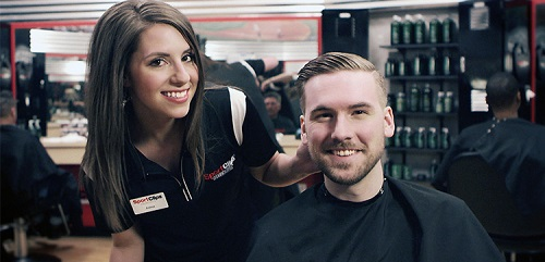 Sport Clips Haircuts of Park Towne Village​ stylist hair cut